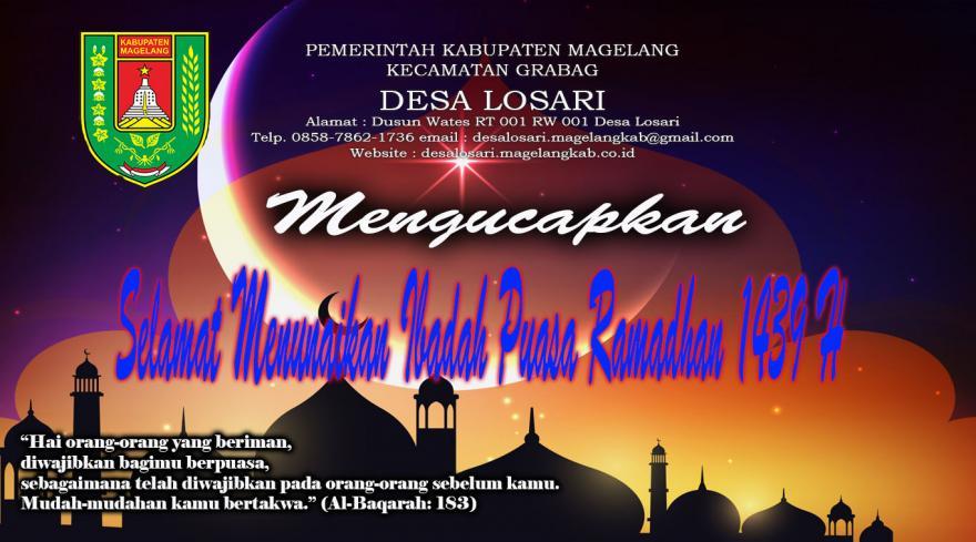 Image : SELAMAT MENUNAIKAN IBADAH PUASA RAMADHAN 1439 H