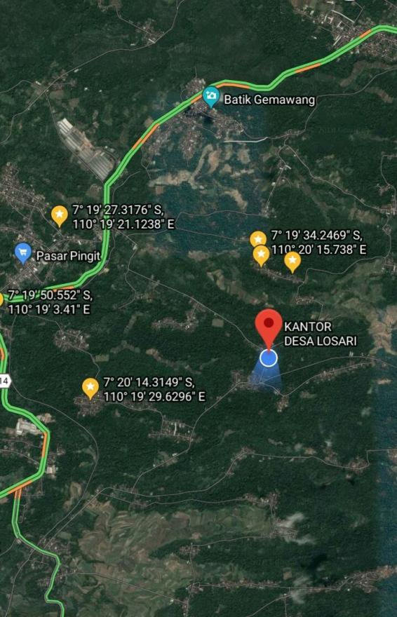 Image : MAPS KANTOR DESA LOSARI
